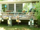 Deck has island touch of bouy decor